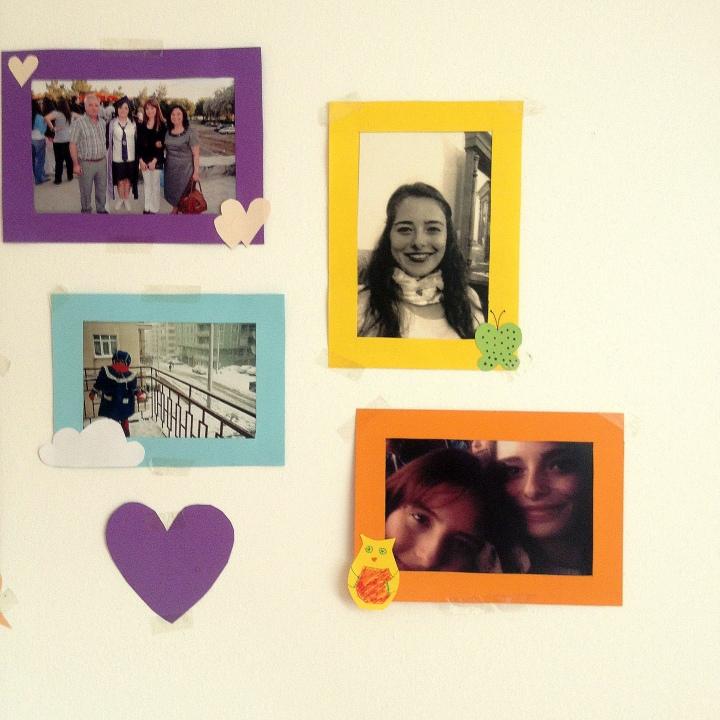 Kağıttan Renkli Çerçeveler / Colorful Paper Frames