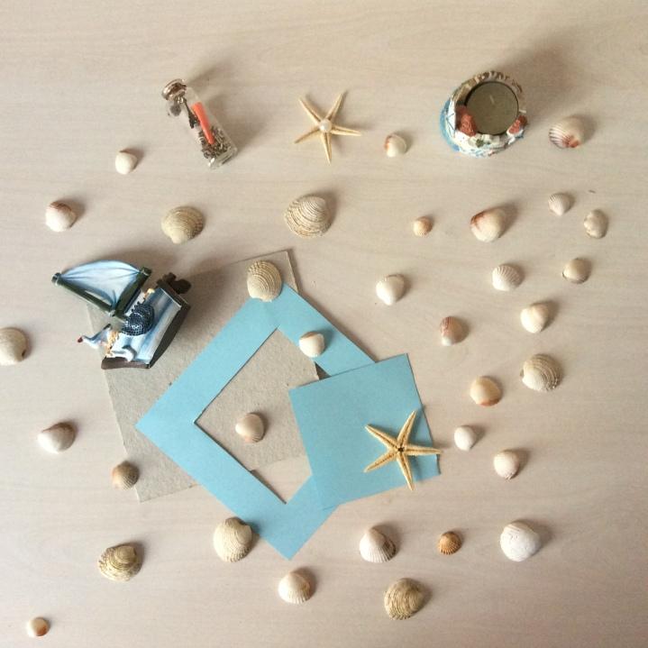 Midye kabuklarında Çerçeve / Seashell Frame