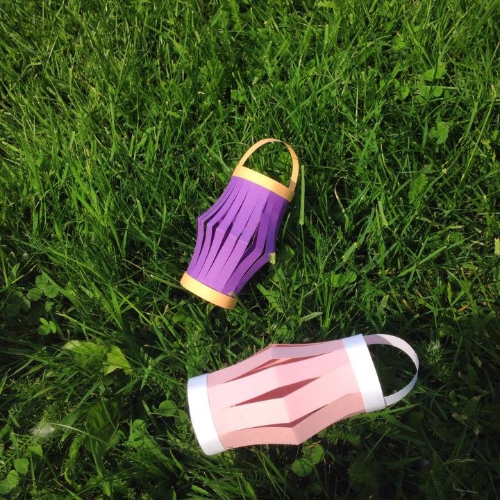 Kağıttan Renkli Fenerler / DIY Paper Lanterns