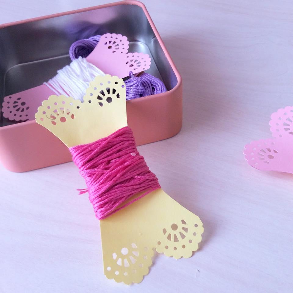Nakış iplikleri için Kağıt Bobinler / Paper Bobbins for Embroidery Floss