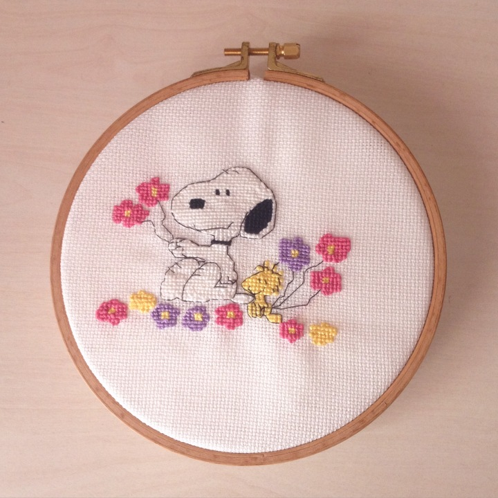 Snoopy Kanaviçe Örneği / Snoopy Cross Stitch Pattern