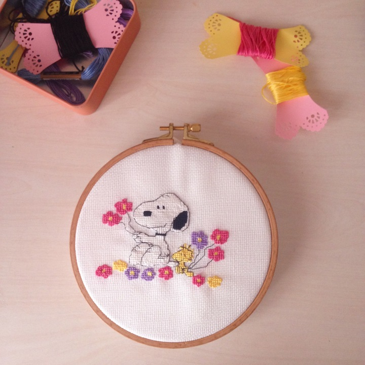 Snoopy Kanaviçe Örneği / Snoopy Cross Stitch Pattern