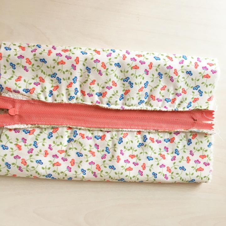 Fermuarlı Makyaj Çantası Dikimi / Sewing Zipper Bag